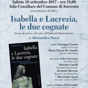 16 settembre Presentazione Isaella e Lucrezia, le due cognate